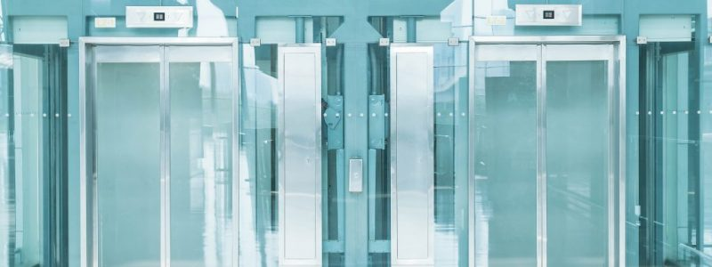 Transparent elevator in underground passage